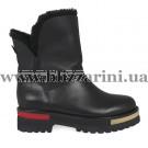 Ботинки S9055-61-S064 (полн мех) черная кожа бот з