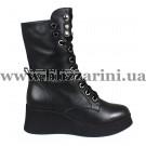 Ботинки BZ222-16M-A (полн мех) черная кожа бот з