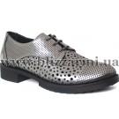 Літній туфель D18YA-270-B platin catlak  никель кожа  туф