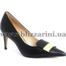 Туфлі JH157-R1-B280  black кожа  туф