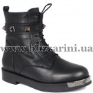 Ботинки 1402 76 (полн мех)  черная кожа  бот з