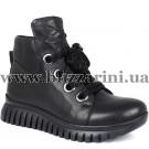 Ботинки G199 268 28 (полн искус мех)  черная кожа  бот з