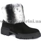 Ботинки 072 01 (полн мех)  черный замш  бот з