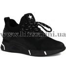 Кросiвки FLM87610 black кожзам  черный   туф