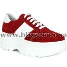 Кросiвки 0606-152-96142 19Y 335 red suede  красный  замш  туф