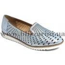 Літній туфель 0395-850 267  denim satin голубая кожа сатин  л-т