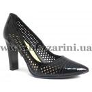 Літній туфель X243-K95-4  black лак  л-т