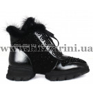Ботинки 6A508-3045M (полн мех)  черная кожа+замш  бот з