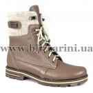 Ботинки 3134 (полн шерсть)  бежевая кожа  бот з