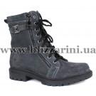 Ботинки 51119 (полн шерсть)  серый замш  бот з