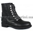 Ботинки 362 1812 siyah deri black (полн мех)  черный кожа  бот з