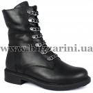 Ботинки 340 98 (полн мех)  черный кожа  бот з