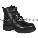 Ботинки 313 30205 siyah deri (полн мех)  черная кожа  бот з