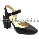 Літній туфель GD1667-V2-B838 black лак л-т