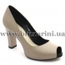 Літній туфель Z25-01-Y042H apricot кожа л-т
