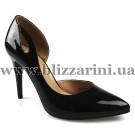 Літній туфель S53-37-N016HT black лак л-т