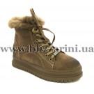 Ботинки HXN6L616-1 (прес) (полн искус мех) light brown замш з
