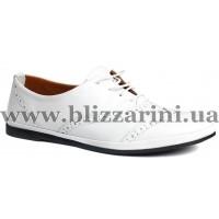 Туфлі комфорт 0106-523  white leather кожа  туф
