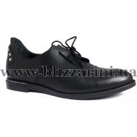 Туфлі комфорт 042-152 03  черная кожа  туф