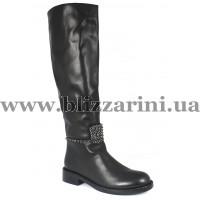 Чобіт 2910-1627BM (мех 4)  черная кожа  зима