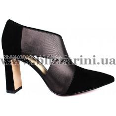 Туфлі A1252-6701-02 черный замш туф