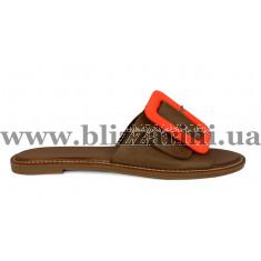 СабоСабо, шлепанцы T-10164 zrgz brown orang toka коричневая кожа л