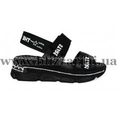 Босоніжки G229 EY-0190 B-001 S-037 черная кожа л