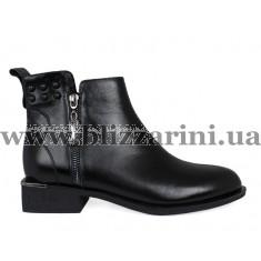 Ботинки F1068-01-N1008 черный кожа бот