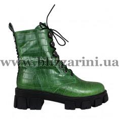 Ботинки Y228H-A5-C153 зеленая кожа бот