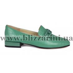 Туфлі 18J706-03D-6434 (мал разм) зеленая кожа туф