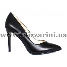 Туфлі S363-75-Y021K черная кожа туф