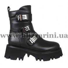 Ботинки LE78-06-NP332B (мал разм) черная кожа бот