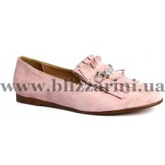 Туфлі 306 REX R-123  розовый замш  туф