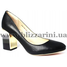 Туфлі 7A366-E395-Y303A  black кожа  туф