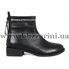 Ботинки H7476-207B-1300 (полн мех)  черная кожа  бот з
