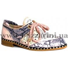 Літній туфель 084 MANROE 4085 24-23  розовая кожа  туф