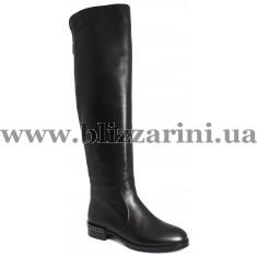 Чобіт C2859-21-5207BM (мех 4)  черная кожа  зима