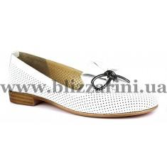 Балетки 0461-1814-9620 19Y 29 white leather  белая  кожа  туф