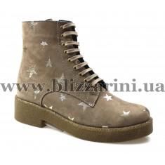 Ботинки C3-0294 бежевый нубук/золото бот
