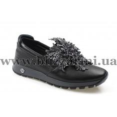 Туфлі комфорт 1999 NAKIS 01 черная кожа т