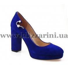 Туфлі KR407-05-031 blue замш т