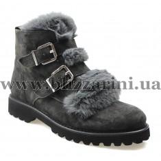 Ботинки WR893-W135-566 (полн мех) grey замш з