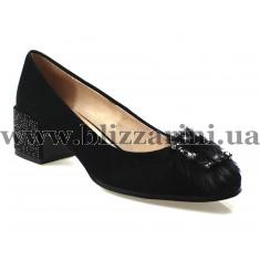 Туфлі X153-6990-1 black замш EAC т